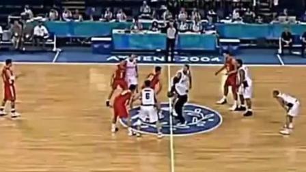 篮球赛场上的1打9! 没错, 就是姚明, 堪称奥运会生涯的最强一战