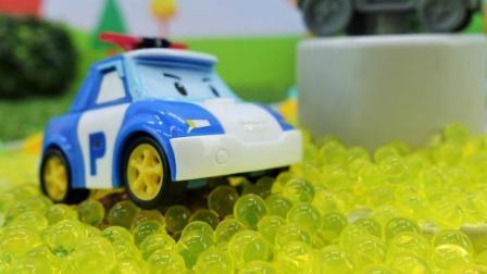【玉子】儿童玩具故事: 汽车城的一天, 呀! 有坏蛋! 小警车出动