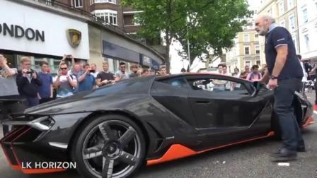 超级豪华跑车亮相围观群众撞车了