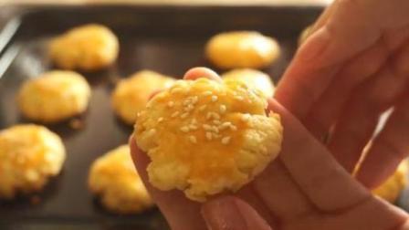 2分钟教你做桃酥, 零基础也可以学会, 酥脆到掉渣