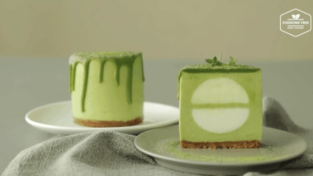 抹茶慕斯巧克力蛋糕Green tea White Chocolate Mousse Cake Recip