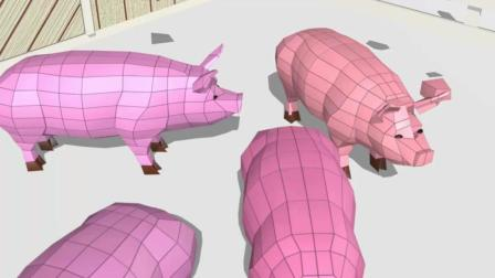 益智趣味动画片 3D养猪场