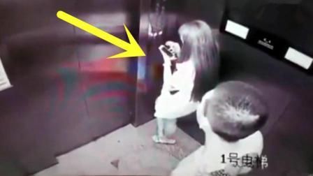 深夜男女共乘电梯, 如果没监控, 都不知道她经历了什么!