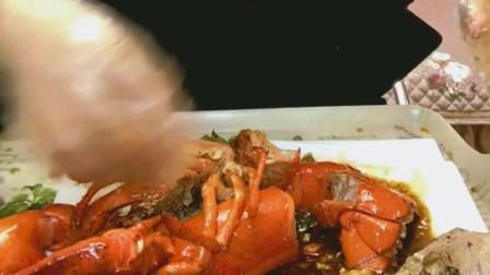 红烧大龙虾美食小吃, 味道这么鲜美, 你看了会食欲大增吗