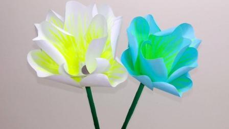 超漂亮的折纸花朵, 制作起来原来这么简单, 手工DIY折纸视频教程