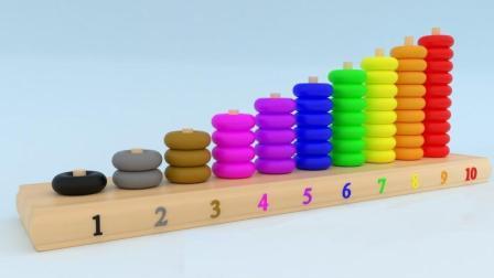帮助彩色算珠玩具寻找对应的位置