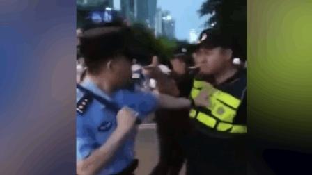 城管执法时辱骂群众并向警察叫板 被制服后大哭 : 我不活了!