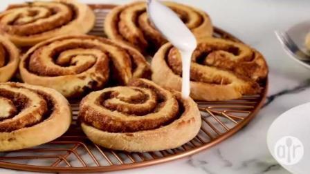 如何制作丹麦肉桂蜗牛面包!