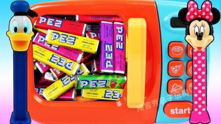 水果糖魔力变身米妮糖果盒? 魔法微波炉创意新玩法, 视频教程送给你