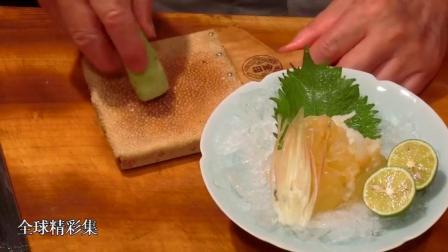 日本大厨用活虾制作鲜虾寿司, 这手法, 一看就是个老师傅了!