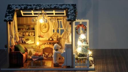 DIY迷你娃娃屋, 美式复古圣诞小房子