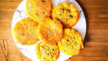 教你南瓜包的家常做法, 不揉面, 筷子搅一搅, 懒人营养早餐