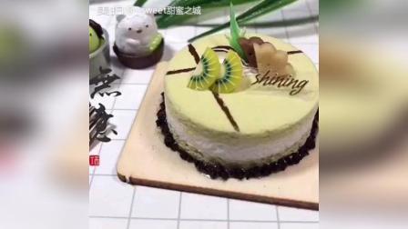 夹心猕猴桃手工粘土蛋糕教程