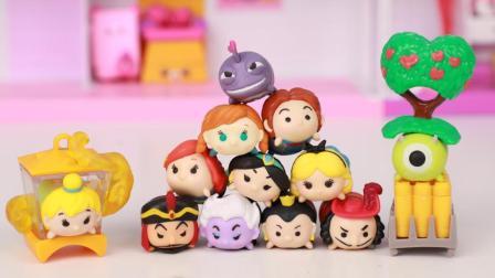 冰雪奇缘阿拉丁 六部迪士尼经典动画TSUMTSUM叠叠乐玩具分享