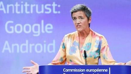 欧盟重罚谷歌加剧欧美贸易冲突