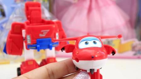 超级飞侠最新款乐迪小爱超级飞侠玩具套装变形机器人国际机场闯关大冒险