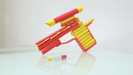 手把手教你做一把带准星的手枪折纸, 看一遍就可以学会, 手工折纸