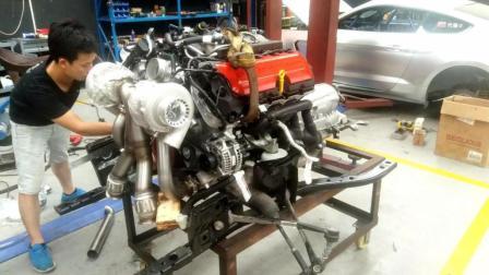 大众EA888 2.0T发动机动力提升很猛, 换个涡轮就可以到400P马力!