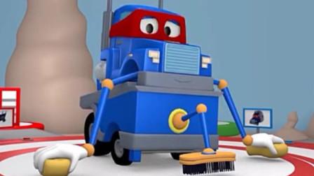 汽车总动员之超级卡车: 汽车城举行冰球比赛, 卡尔变身磨冰卡车平整赛场