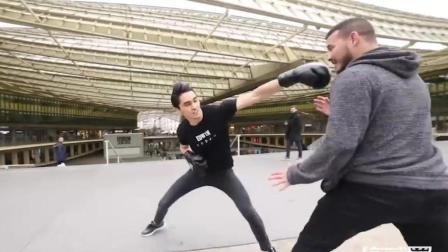 普通人遇上练家子, 能有几拳打得中呢?