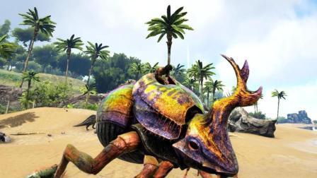 【幽疯君】《方舟生存进化》孤岛灭绝生存P1 驯服屎壳郎和剧毒嘟嘟霸王龙!