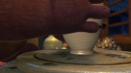 真是无所不能的熊大, 连陶瓷都会做