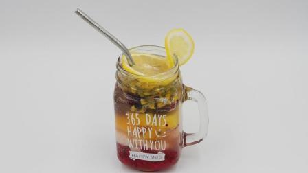 1分钟教你做网红满杯水果茶, 满满幸福感, 越喝越上瘾!