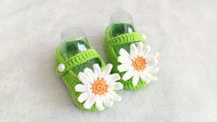 【小脚丫】雏菊宝宝鞋子毛线鞋子diy手工毛线编织编织款式大全