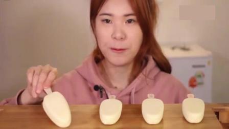 韩国大胃王卡妹, 吃奶油芝士冰淇淋, 只给五个根本不够吃!