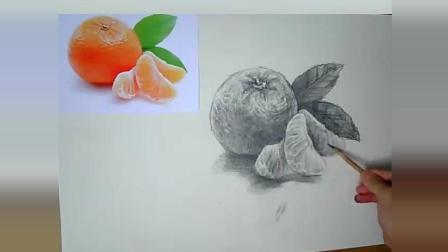 素描入门基础: 课时37桔子画法步骤, 带你轻松学素描