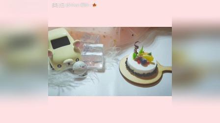 创意手工黏土水果蛋糕