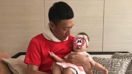 孙红雷女儿正面照 小公主皮肤白眼睛像爸爸