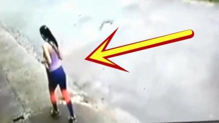 女孩路边晨跑, 要不是监控拍下, 都不知道她经历了什么!