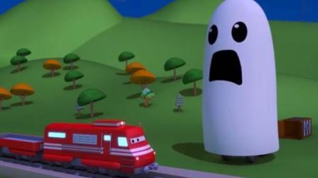 迪士尼汽车总动员 汽车城的狂欢万圣节 火车特洛伊把樱桃采摘车变成幽灵