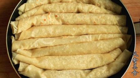 烙饼很节省时间的做法, 60秒就出锅, 柔软又劲道, 吃着超过瘾