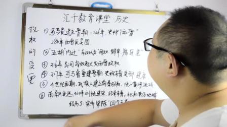 初中历史重点, 关于魏晋南北朝时期的政权变更以及相应的考点和知识点