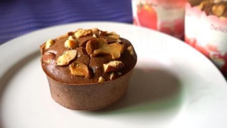 巧克力玛芬: 最适合新手的懒人蛋糕, 不用打发鸡蛋, 简单搅一搅就能做