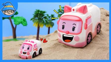 变身警车珀利, 安巴变小啦~ 安巴在迷你基地执行救援任务。