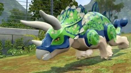 侏罗纪世界侏罗纪公园 梁龙跟食肉牛龙一起PK陌雪解说