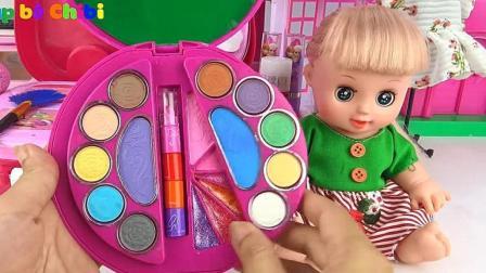 梳妆盒玩具和奇趣蛋, 婴幼儿宝宝教育游戏视频382