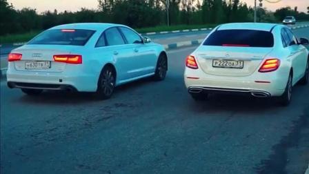 奔驰E级、奥迪A6进行加速对比, 后段差距太明显!