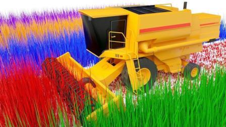 农用工程车玩具收割庄稼获得彩色玩具球