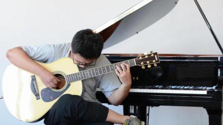 使用雅马哈吉他LL16D实录押尾桑指弹吉他曲《dear》星星河乐器专营店