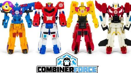 变形金刚来自赛博坦的汽车人战斗小队 6种小机器人合体玩具