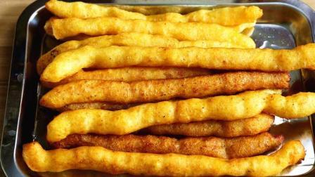 面食新吃法, 一斤土豆, 半斤面粉, 自制小零食, 外酥里嫩, 比肯德基薯条还好吃