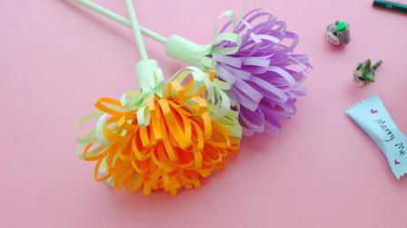 简单又漂亮的剪纸装饰花, 几个步骤完成, 需要一点点耐心!