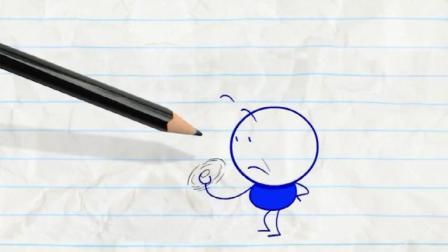搞笑铅笔画小人: 玩指尖陀螺!