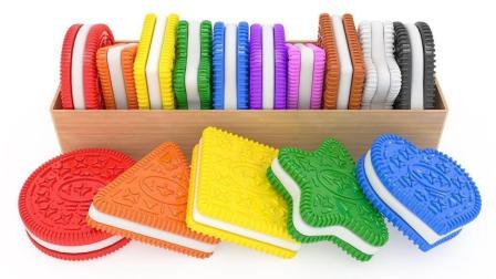 饼干模具制作不同形状的饼干玩具认识形状