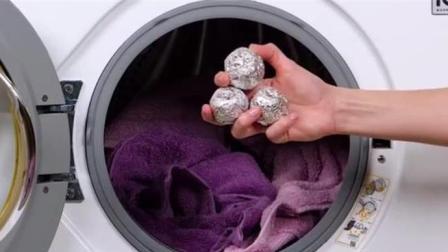 每次洗衣服加水前, 洗衣机里放2个它, 再脏再旧的衣服都干净如新