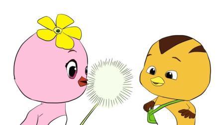 萌鸡小队可爱的朵朵和大宇儿童卡通简笔画